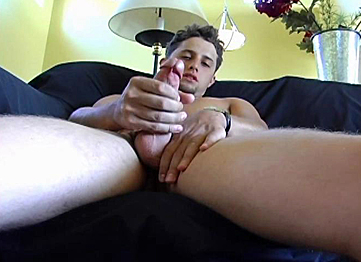 Men jacking off till cum shot